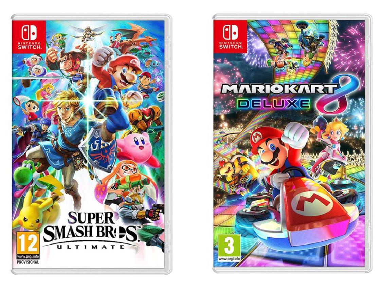 Nintendo Switch Super Smash Bros. Ultimate & Mario Kart 8 Deluxe Bundle £79.99 delivered @ Currys