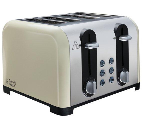 Russell Hobbs 22408 Worcester 4 Slice Toaster - Cream @ Argos Was £29.99, Now £19.99
