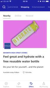 O2 priority Free reusable fruit infuser waterbottle via whsmith