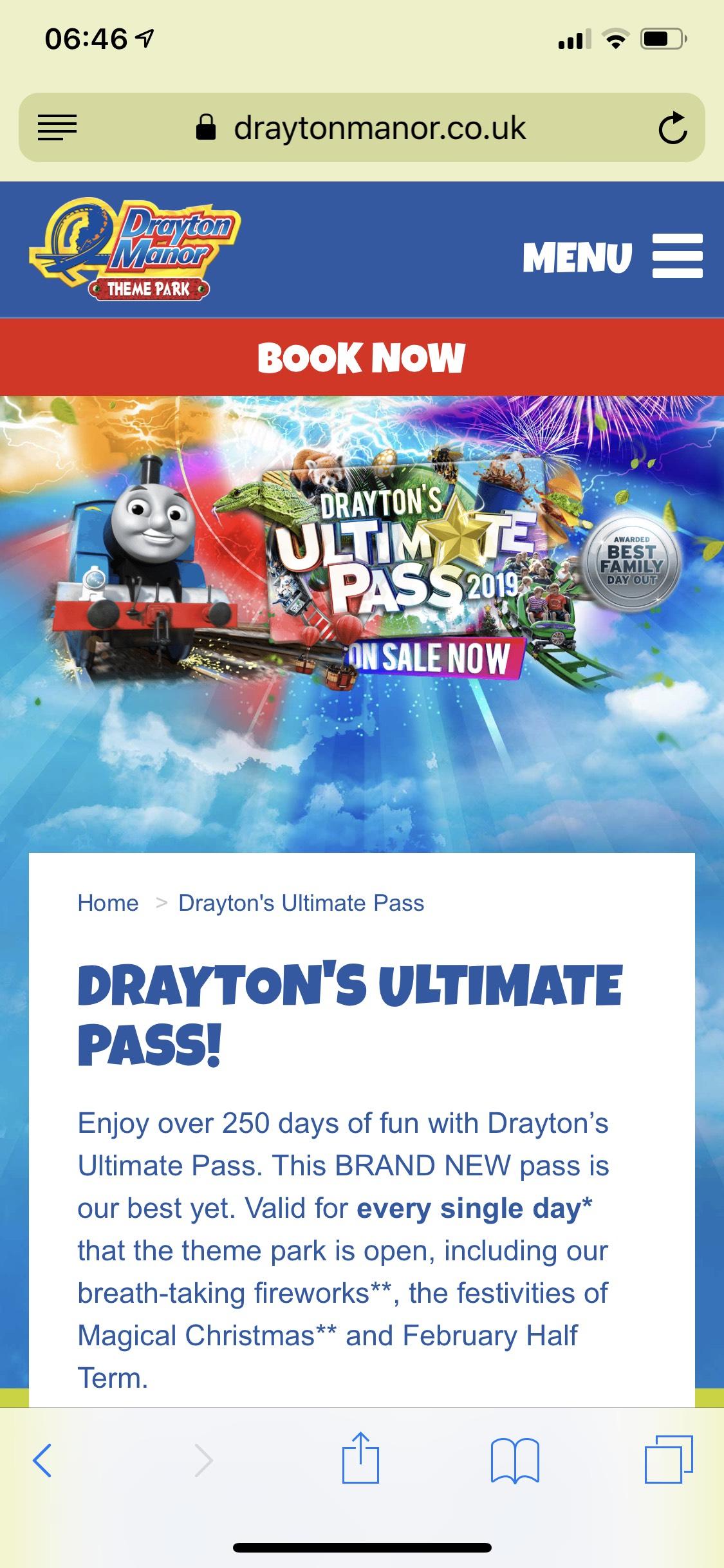 DRAYTON'S ULTIMATE PASS £110 !