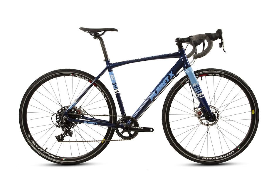 Planet-X Full Monty Gravel Bike SRAM Apex 1x Groupset Mudguard and pannier mounts 6061-T6 Aerospace alloy frame £600 Planet X