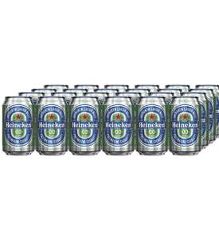 Heineken 0.0 Alcohol Free Beer Cans, 24 x 330 ml £12 prime exclusive @ Amazon