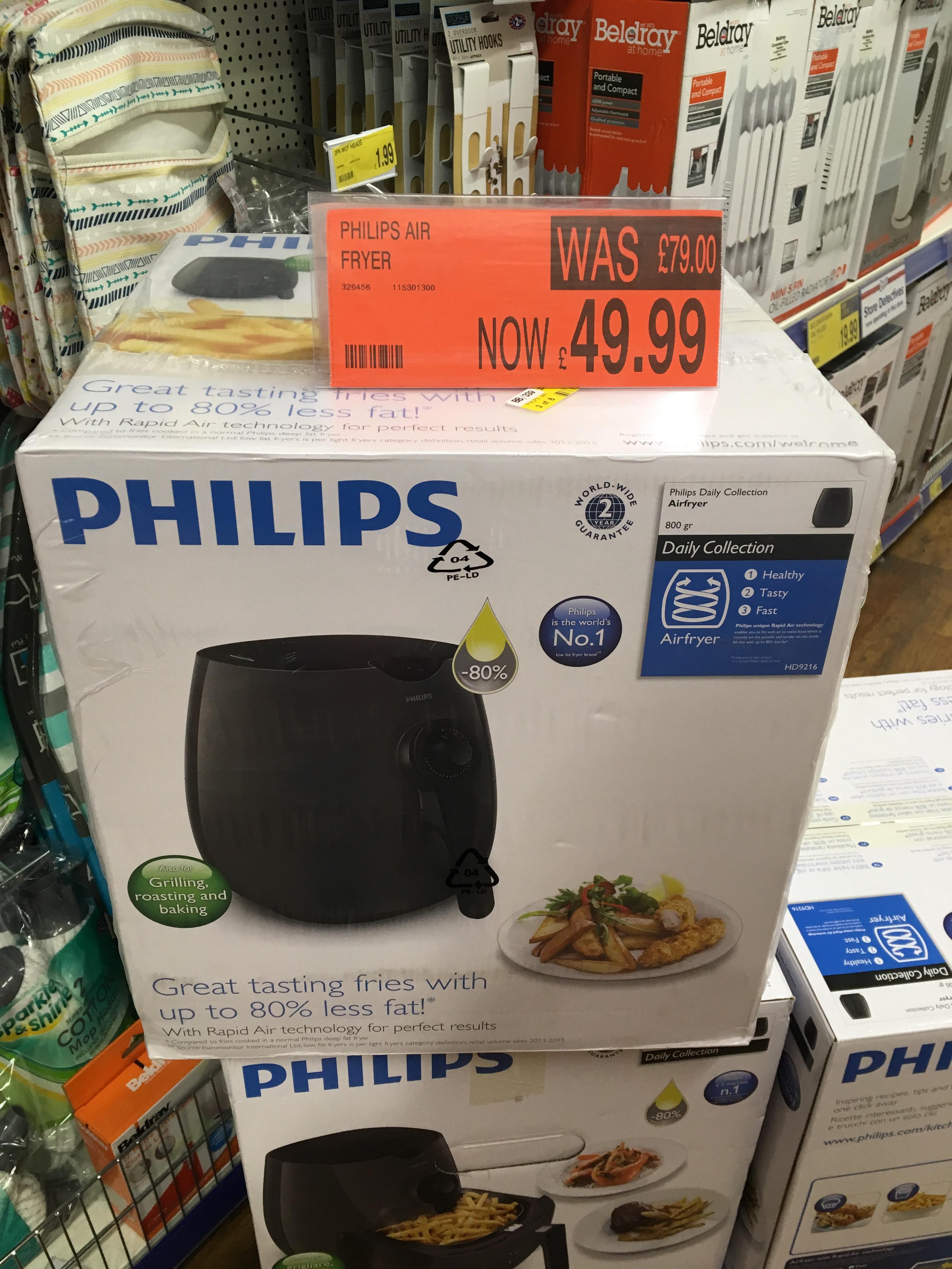 Philips Air Fryer - £49.99 instore @ B&M