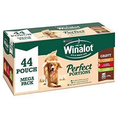 Winalot perfect portions x 44, 100g pouches - £7 @ B&M