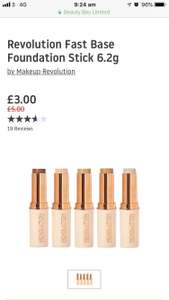 b5e2e5288 Revolution Foundation Stick £3 + £2.95 del at Beauty Bay