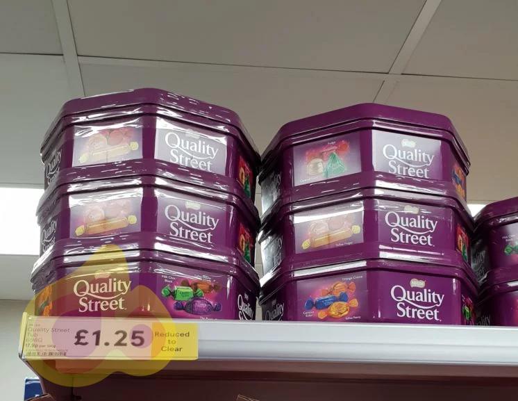 Quality Street Tub 698g £1.25 @ Tesco instore