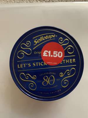 Hobby Craft Limited Edition Sellotape plus tin £1.50 instore