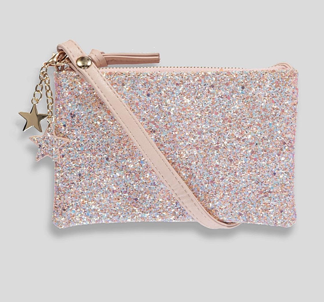 Star Charm Glitter Clutch Bag £1.50 free c+c @ matalan