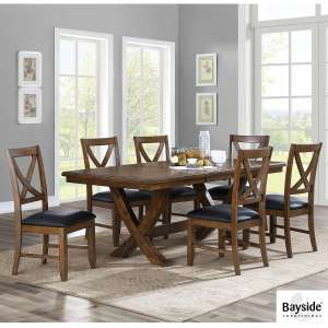 Bayside Furnishings Valaria Extending Dining Room Table + 6 Chairs £599.89 @ Costco