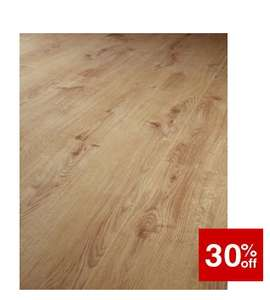 Wickes Navelli Light Oak Laminate Flooring - 1.48m2 Pack £15.54