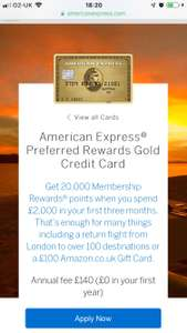 2 Free lounge passes with gold Amex card