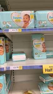 Pampers nappy pack of 50 half price - £3.75 @ Tesco