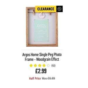 Argos Home Single Peg Photo Frame - £2.99 @ Argos