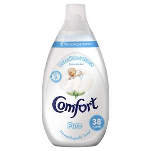 Comfort Pure Ultra Concentrated Fabric Conditioner, 3.42 L - 228 Washes (38 Washes x Pack of 6) @ Amazon £9 Prime £13.49 Non Prime