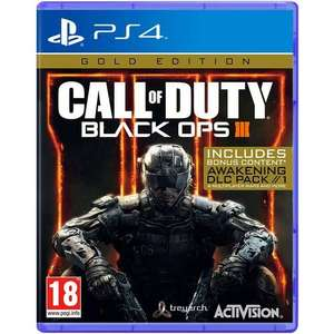 Call of Duty Black OPS 3 Gold Edition PS4 £13.99 delivered @ MyMemory