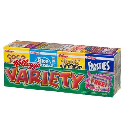 Kellogg's Cereal Variety 8pk £1 @ B&M