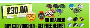 Get a free helmet (worth up to £25) when you buy a £30 planet x voucher + £3.99 del