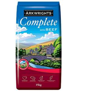 Arkwrights Beef Dry Dog Food 15 Kg £9.99 (Prime) / £14.48 (non Prime) at Amazon