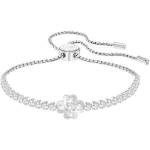 Swarovski Subtle White Crystal Clover Bracelet (was £69) Now £34.50 delivered with 48hr Tracked Delivery at John Greed