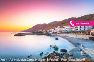 7nt 4* All-Inclusive Crete Holiday & Flights - Pool View Room! £239pp @ Wowcher / Blue Sea Holidays