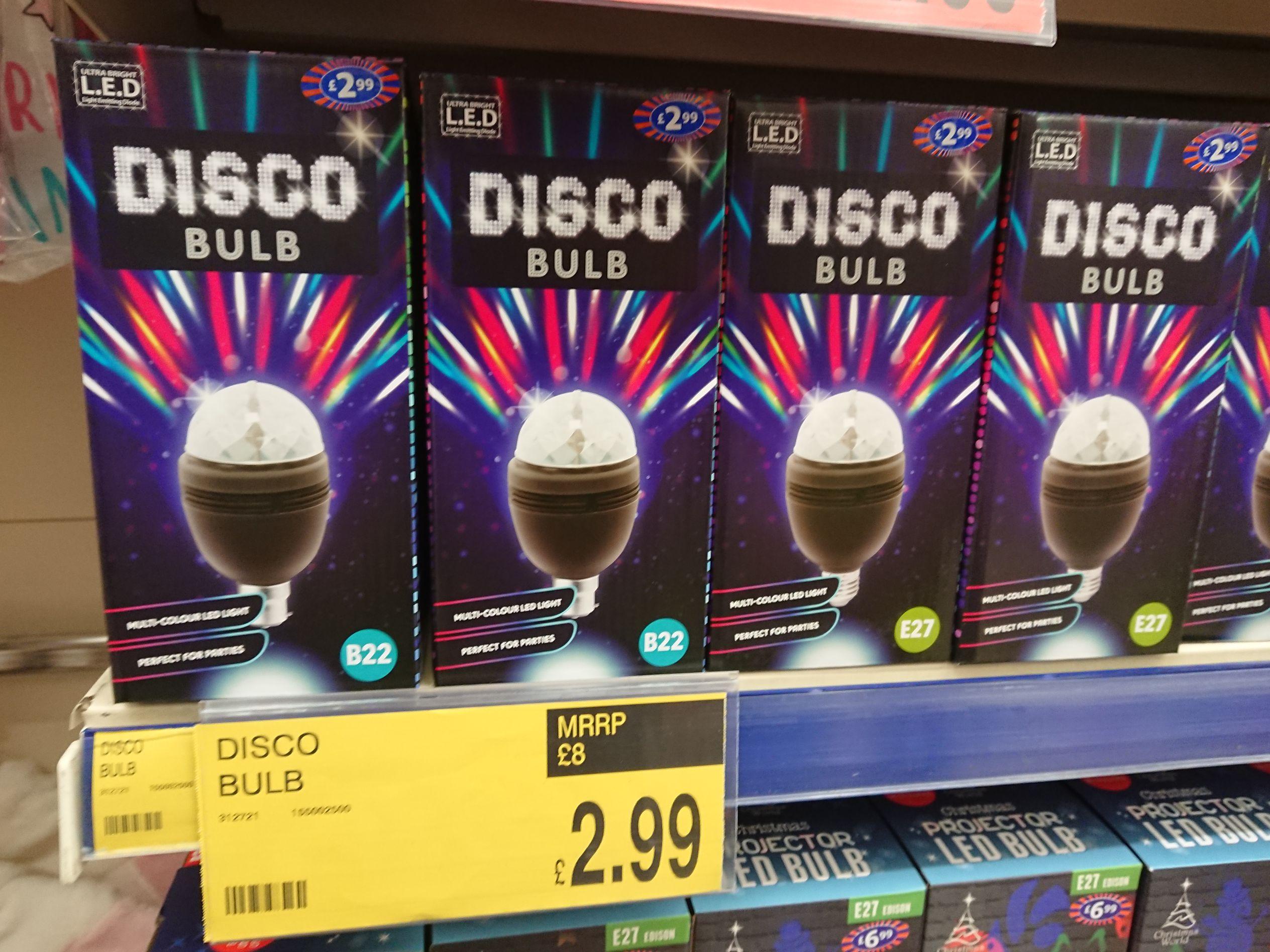Disco Bulb at B&M. £2.99!