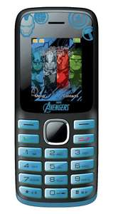 Lexibook Marvel Avengers basic mobile Phone with bluetooth, torch MP3/4 player dual sim £9.99 delivered @ eBay sold by Argos