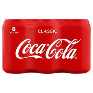 6 pack of Coca-Cola 330ml £3 - Asda & Co-op