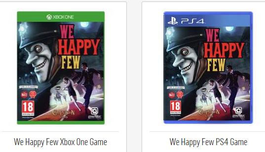 WE HAPPY FEW - PS4 / XBOX ONE - Physcial Copy £19.99 @ Argos