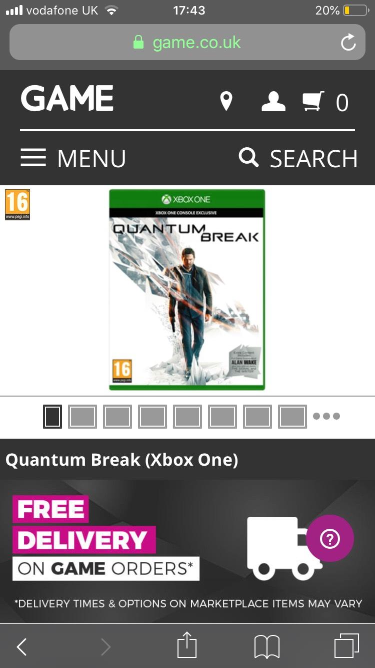 Quantum Break Xbox One £4.99 @ Game