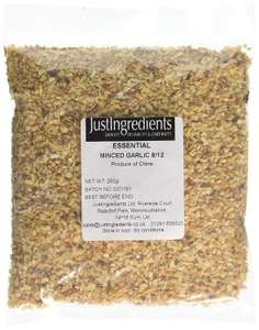JustIngredients Essentials Minced Garlic 250 g, Pack of 5 @ Amazon Add On £4.88