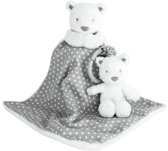 Baby Boutique Grey Fleece & Pram Toy Set @ Argos Was £10.99, Now £6.99