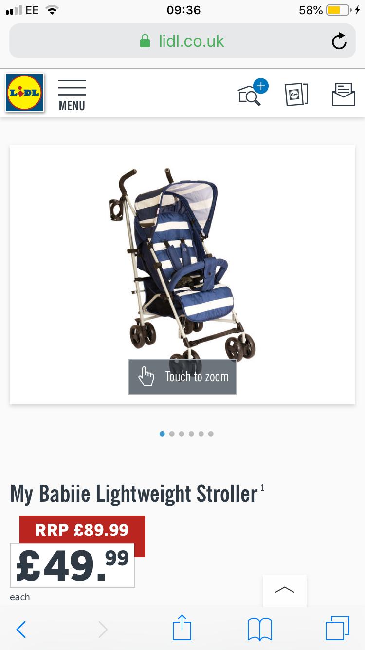 It's back! My babiie stroller in Lidl £49.99