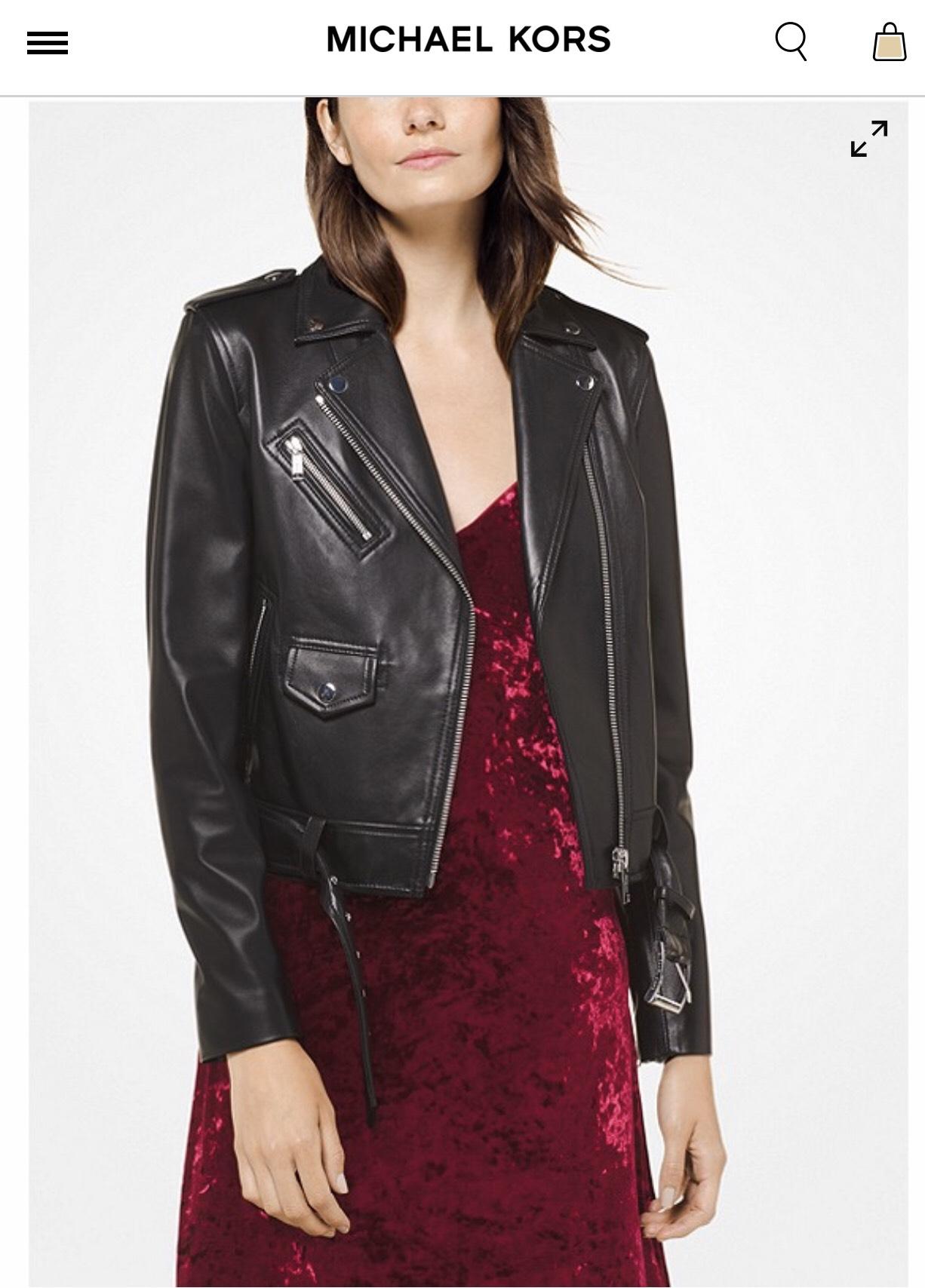 Michael Kors leather (MOTO) jacket was £495 - £145 @ Fenwick