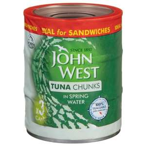 *Managers Special* John West tuna chunks 3 pack £2 (sunflower oil and spring water in stock) B&M
