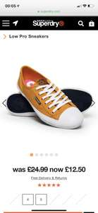 Superdry women's Low Pro sneakers Sizes 4 and 5 £12.50 at Superdry