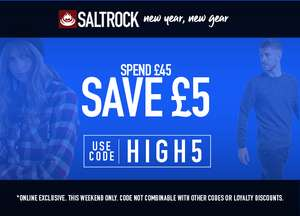 Extra £5 Off When You Spend £45 @ Saltrock