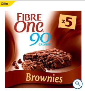 Fibre One Chocolate Fudge Brownie Bars 5X24g £1.44 @ Tesco