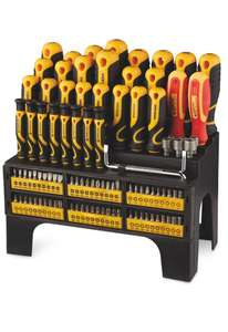 Workzone 100 Piece Screwdriver and Bit Set (free delivery over £20 or £2.95) at Aldi