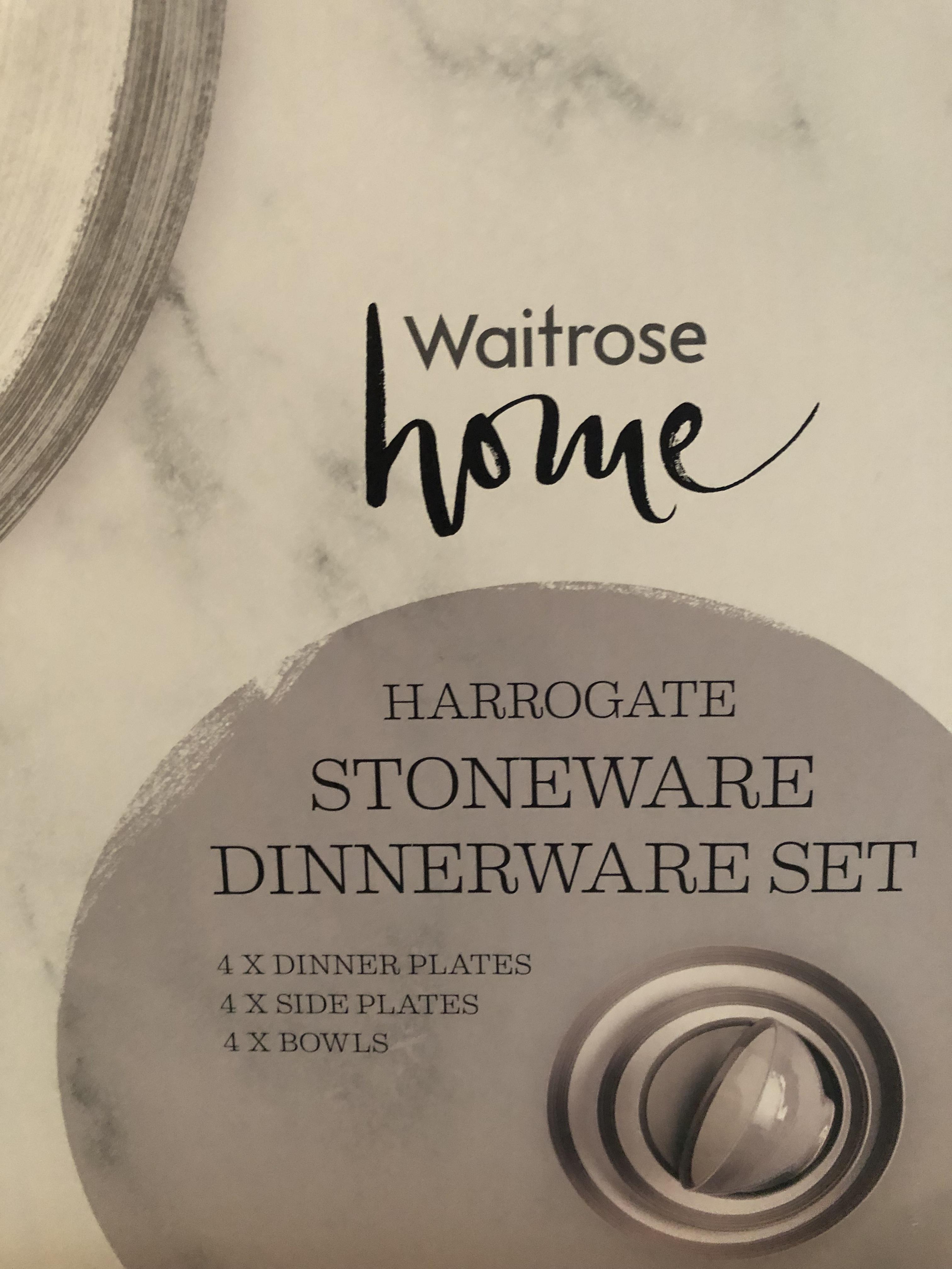 """Waitrose Home """"Harrogate"""" grey 12pc dinner set £20 instore - Waitrose & Partners"""