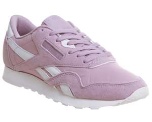 Reebok Classic Nylon Trainers Lilac Size 4 - 7 now £20 @ Office Free c&c
