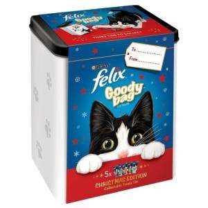Felix Christmas Goody Tin with 5 packs of Cat Treats - Now dropped to £2.50 @ B&M stores