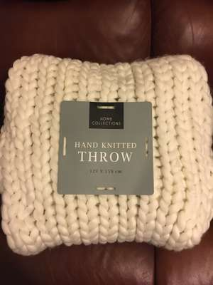 Very chunky knit throw instore at Home Bargains for £24.99