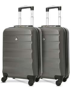 2 x Aerolite lightweight hard shell cabin suitcases Easyjet, Ryanair, BA, Flybe etc approved £38.99 delivered @ Travel Luggage & Cabin Bags