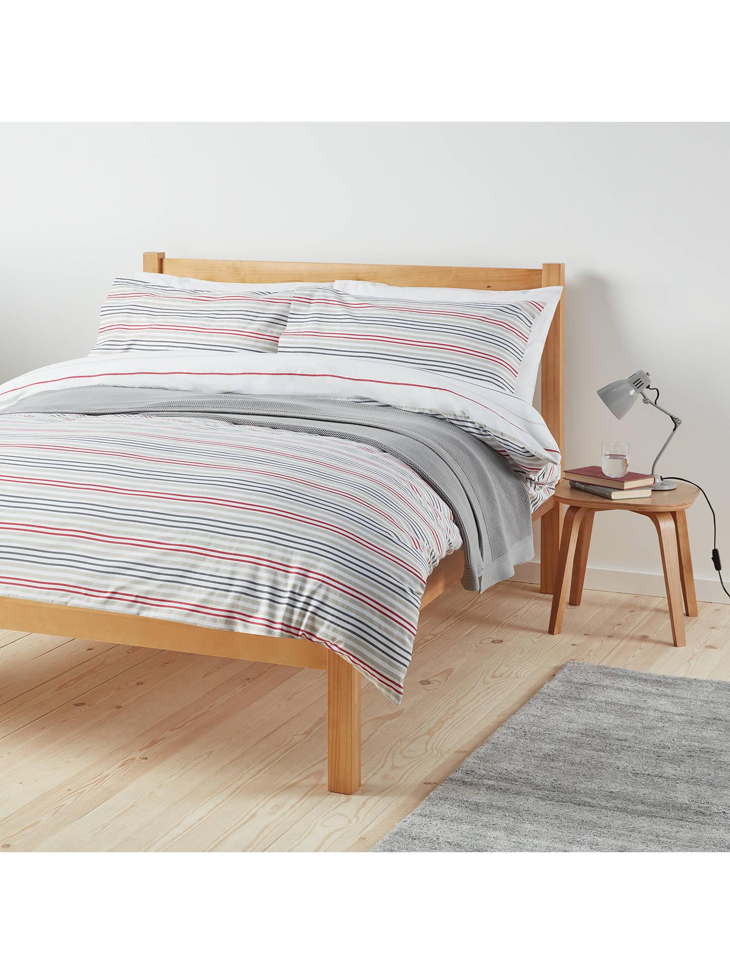 John lewis & Partners The Basics Polycotton Stripes Single Duvet & Pillow Case £5 (£2 c&c / £3.50 del)