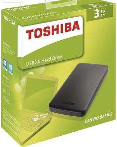 "3TB Toshiba Canvio 2.5"" USB 3.0 External Hard Drive £69.13 Delivered @ Aria PC"