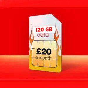 Virgin Mobile SIMO £20pm + 120 GB 4G + Un Calls + Un Text + Tether ALL Your Data - 12 Month Contract NOW LIVE + £100 Quidco