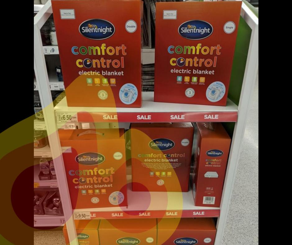 SilentNight Comfort Control electric blanket - Single electric Blanket - £6.50 / Double - £9.50 / King - £11  @ Asda