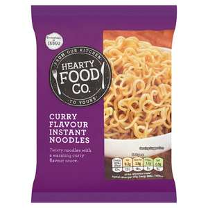 Hearty Food Co chicken or curry flavour instant noodles 14p a pack / Spicy curry noodle pot 28p @ Tesco