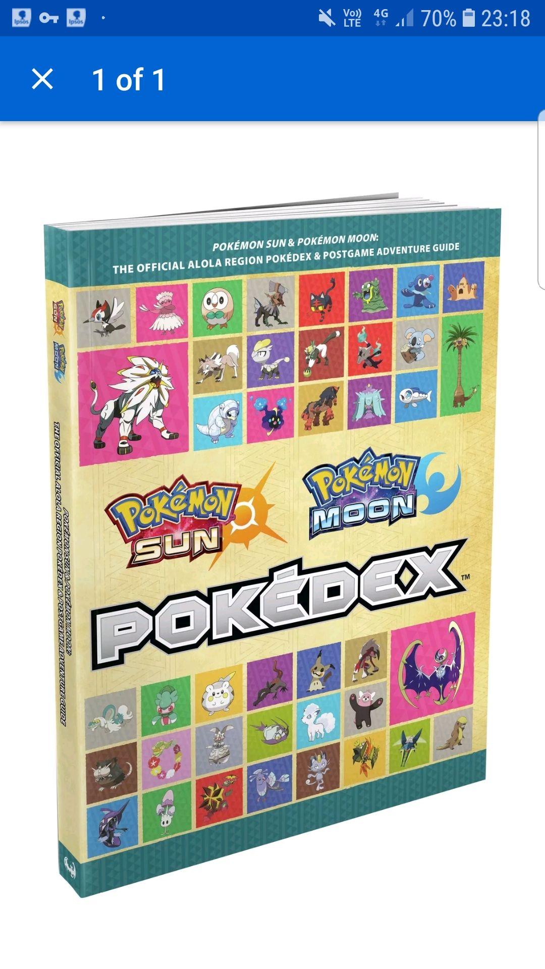 Pokemon Sun and Moon pokedex and guide EVEN CHEAPER £4.45 @ Argos Ebay