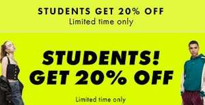 20% ASOS Student Discount exp 17/01/19